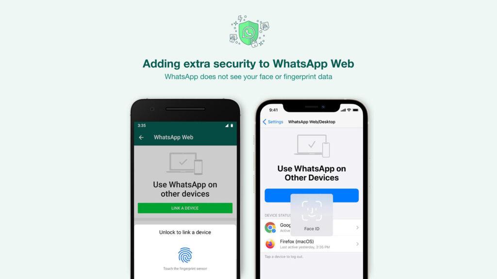 WhatsApp biométrie