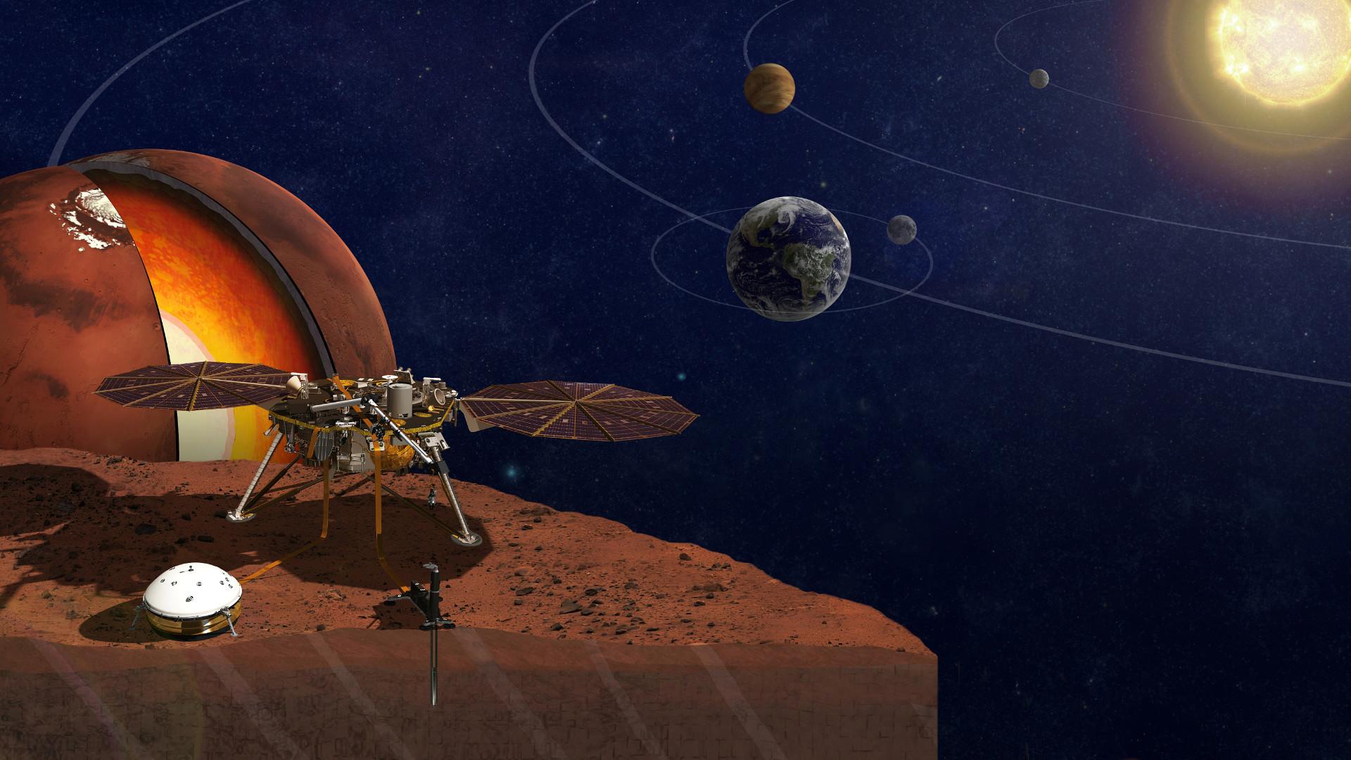Pourquoi il est important qu'InSight détecte l'atterrissage de Perseverance sur Mars - Numerama