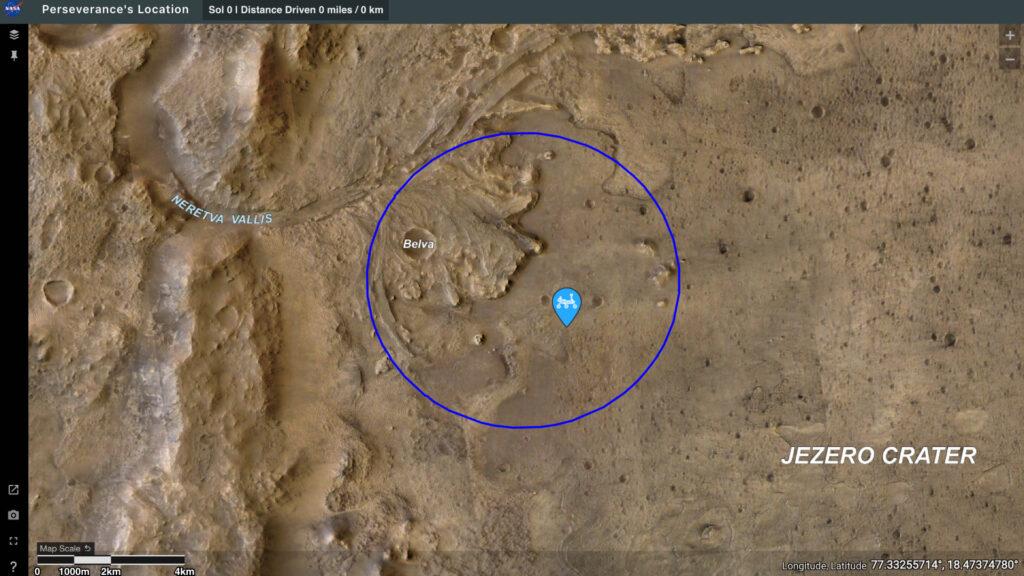 Actualités - Où est Perseverance? Suivez la position du rover sur Mars avec cette carte