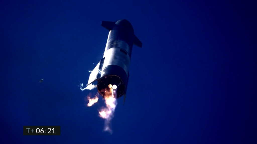 Retour Starship SN9