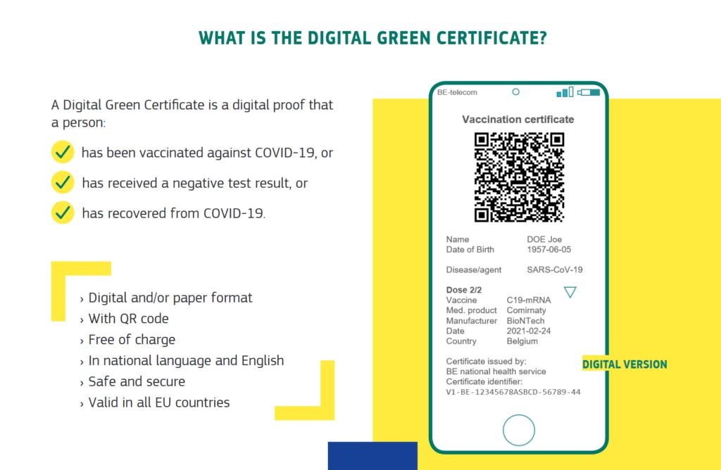 Certificat vert numérique européen
