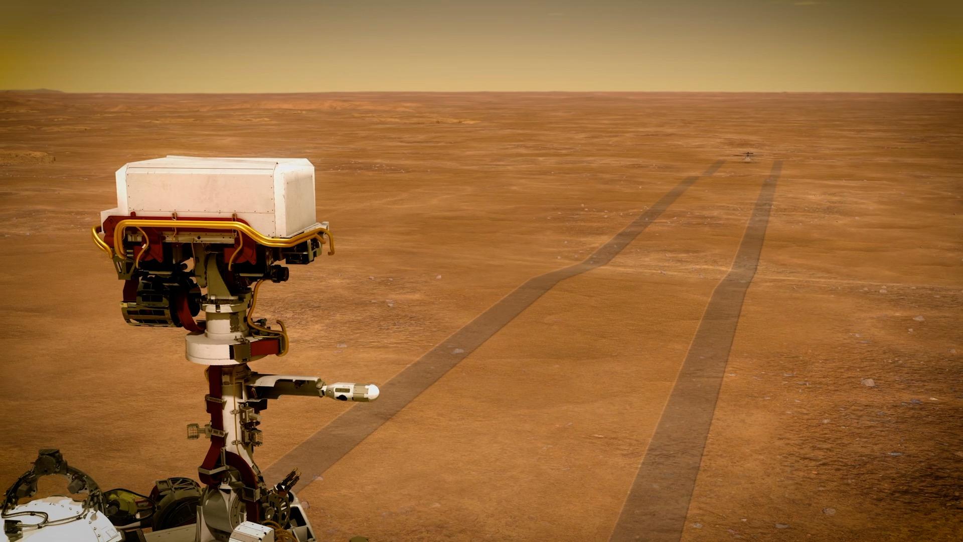 Perseverance cherche où poser l'hélicoptère Ingenuity sur Mars - Numerama