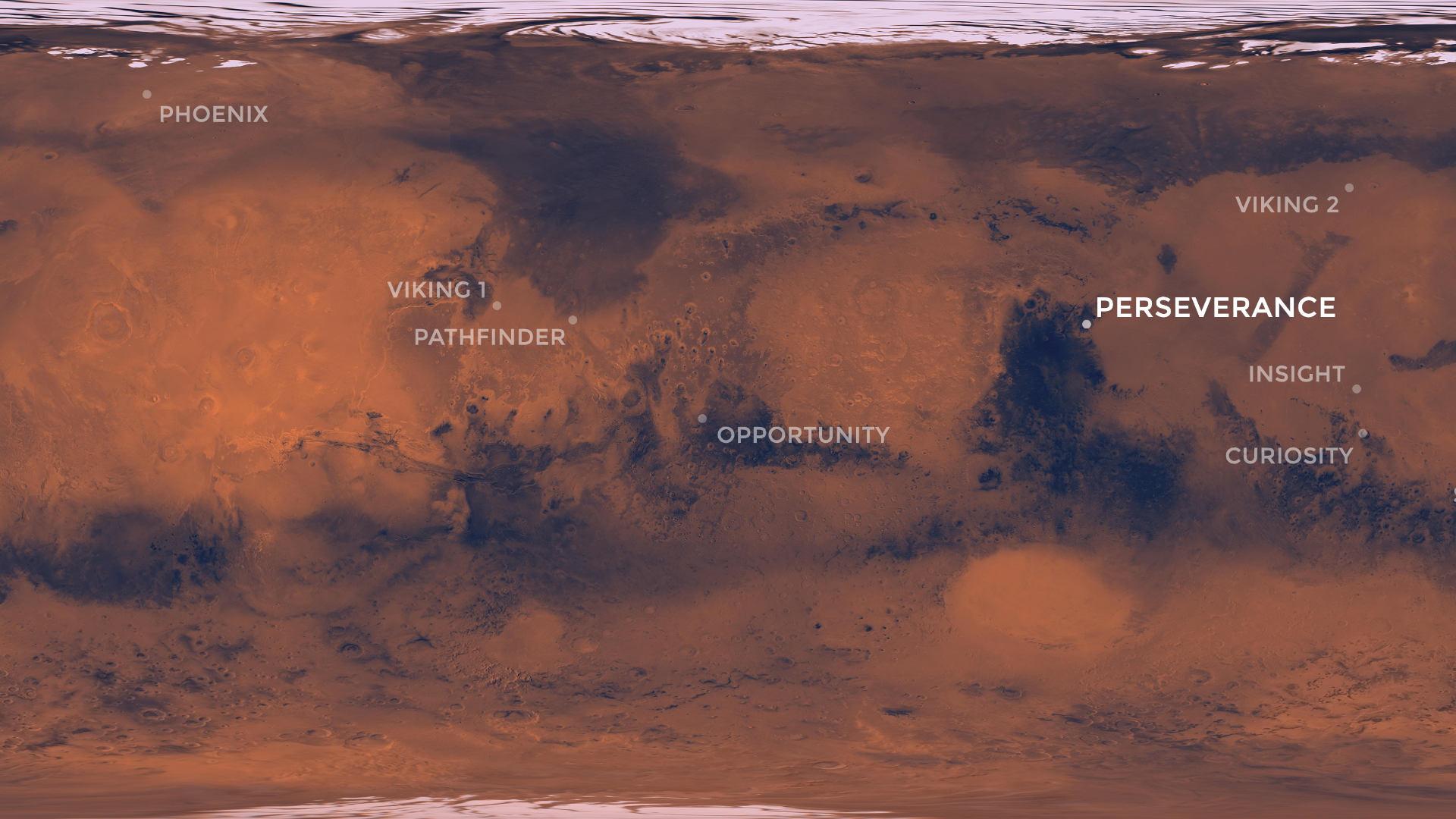 Quelle distance sépare les rovers martiens Perseverance et Curiosity ? - Numerama