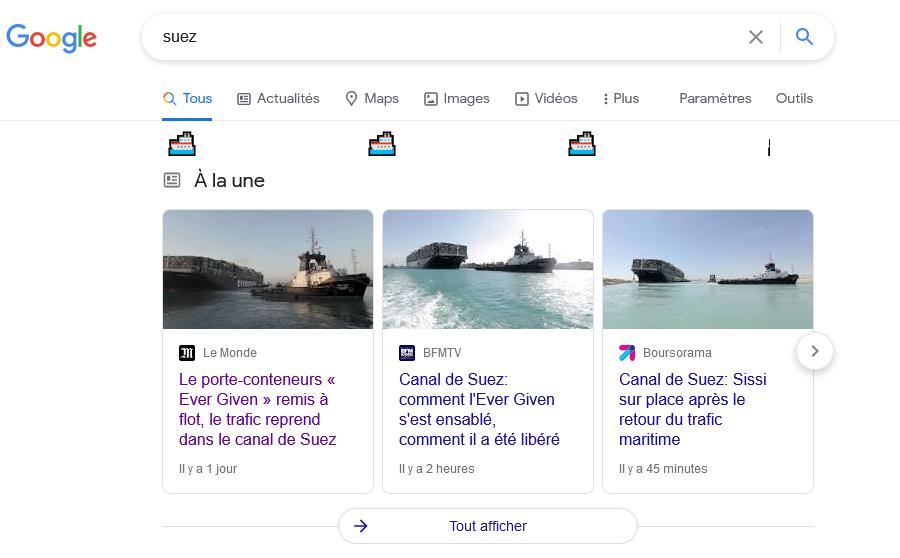Suez Google
