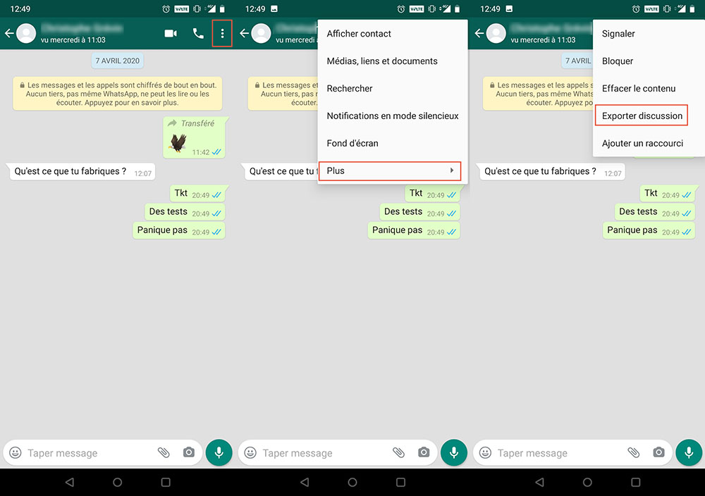 WhatsApp export discussion 1