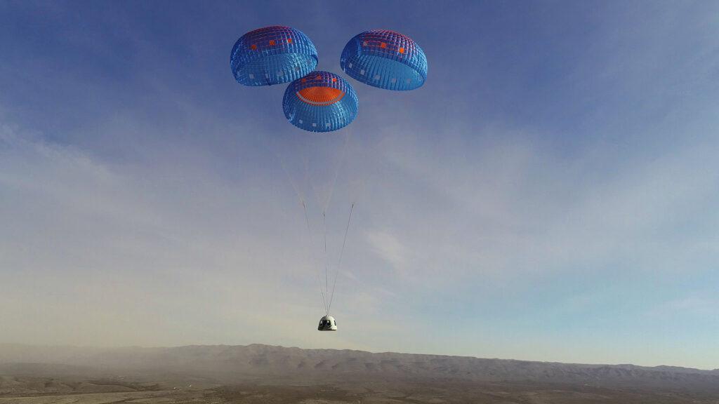 New Shepard capsule Blue Origin