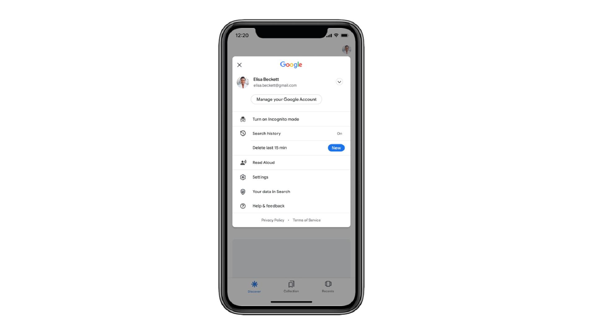 Google lance un raccourci pour effacer les 15 dernières minutes de recherche web
