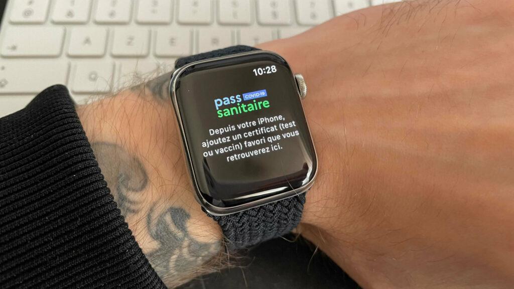L'application TousAntiCovid sur Apple Watch