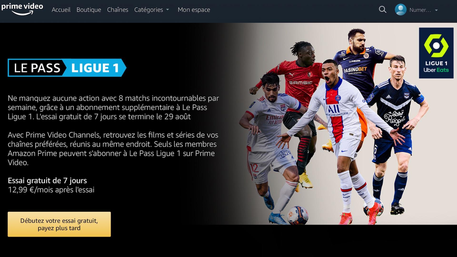 Amazon Prime Video Ligue 1 : comment s'abonner pour regarder le foot en streaming ?