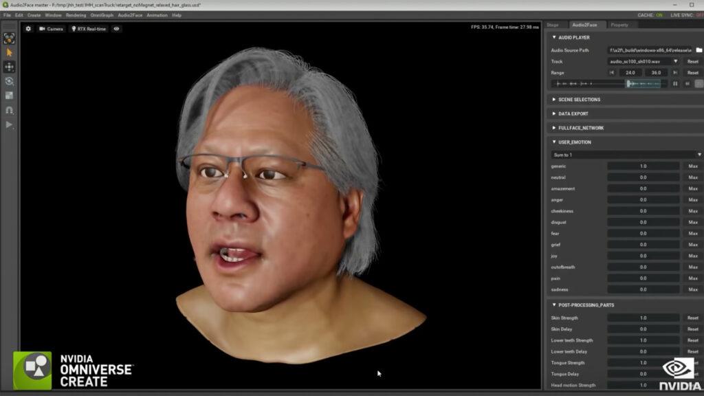 Sincronización de labios por inteligencia artificial en el clon de Jensen Huang
