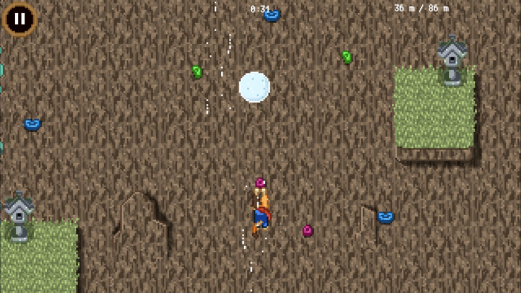 Prise d'écran du mini-jeu de l'escalade
