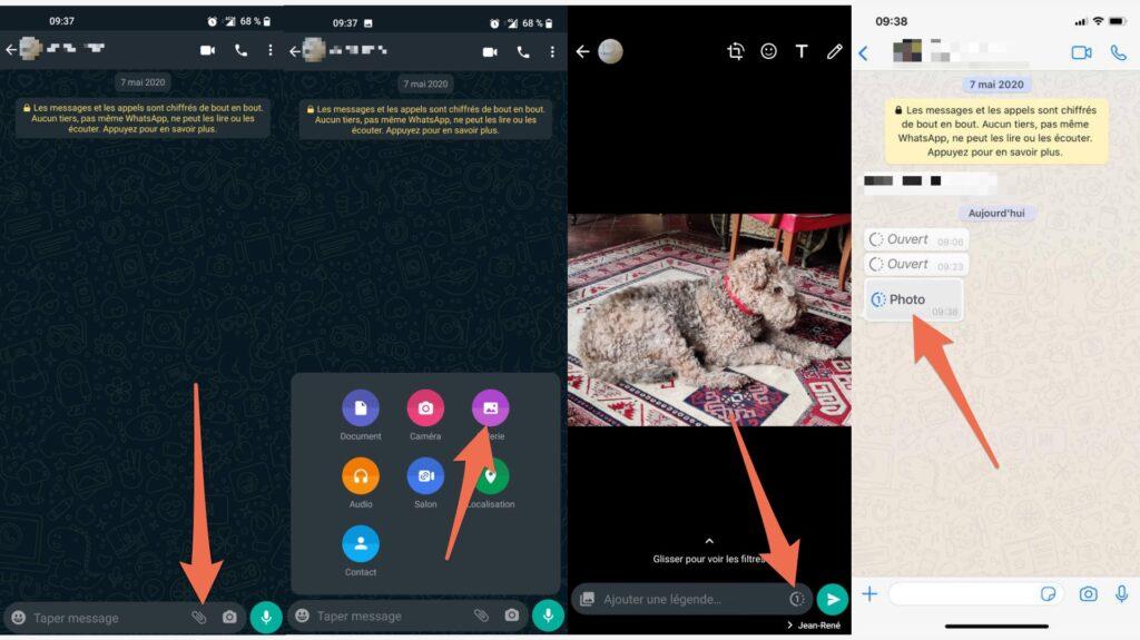 La marche à suivre pour envoyer un message éphèmere sur WhatsApp