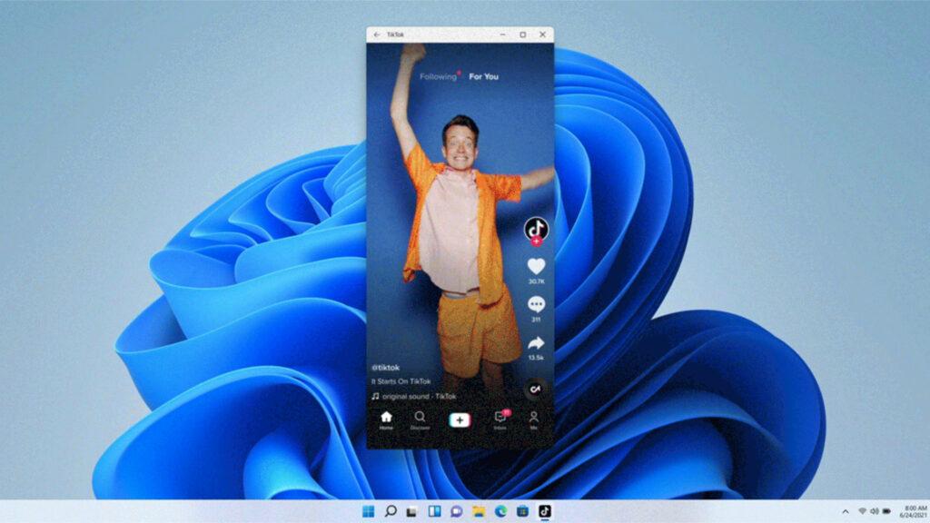 TikTok sur Windows 11