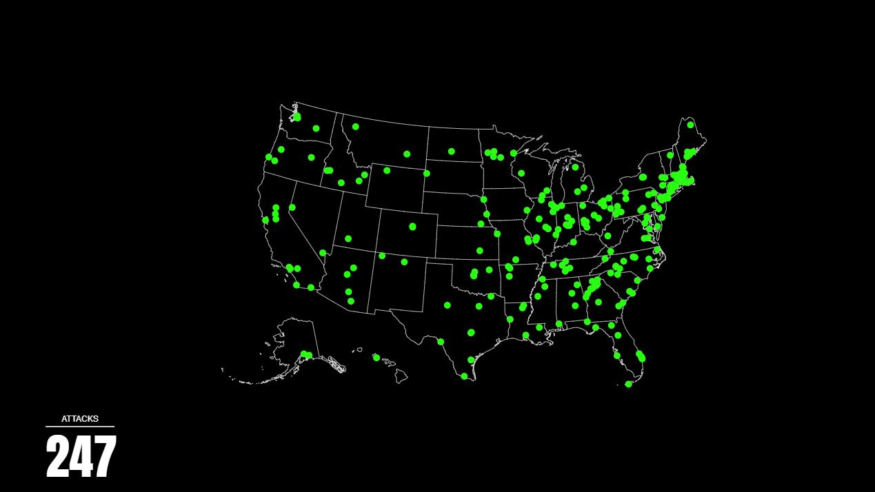 Une carte interactive montre l'explosion des attaques par ransomware aux États-Unis entre 2013 et 2019